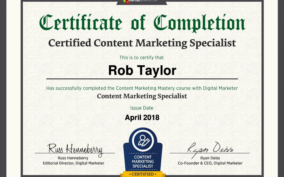 Accredited Content Marketer