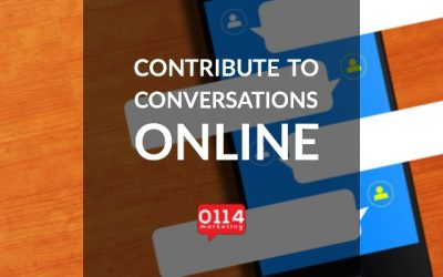 Contribute to conversations online