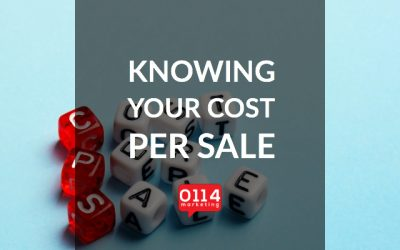 Knowing your cost per sale