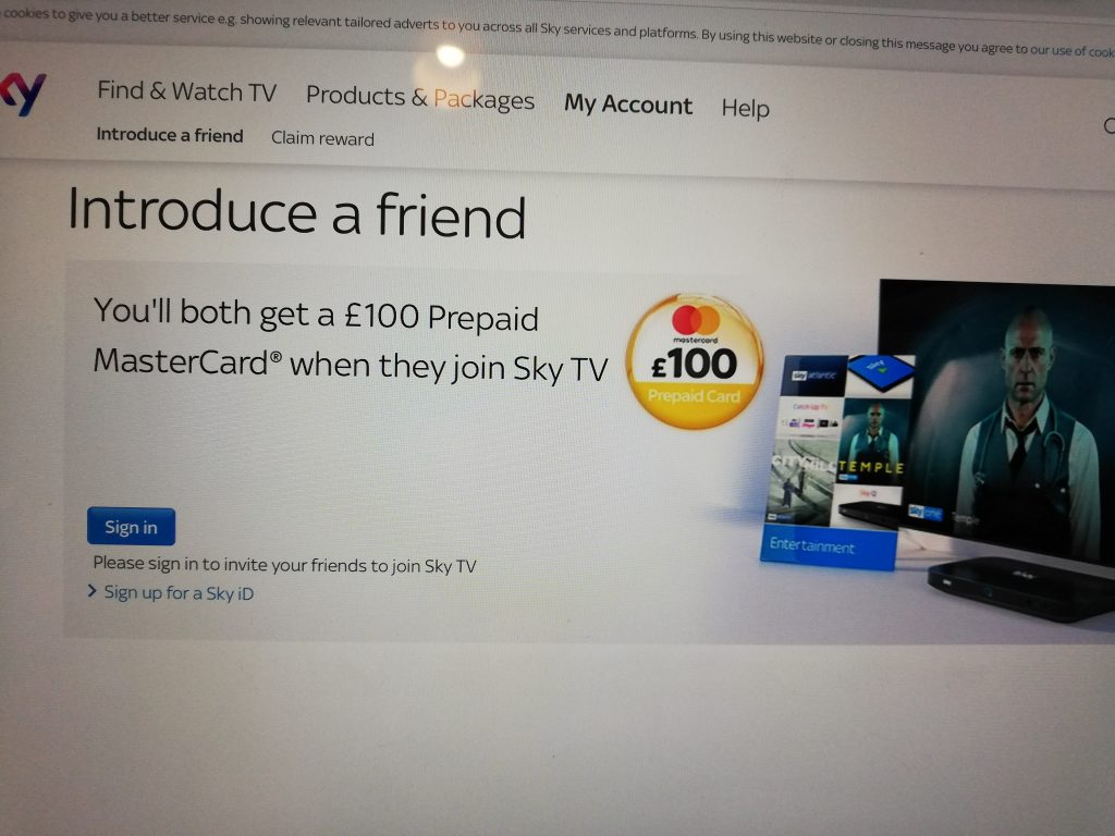 sky marketing using referrals