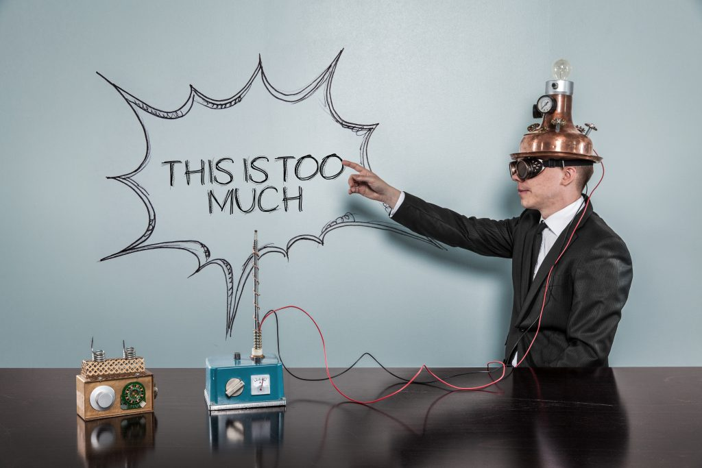 information overload from too much learning