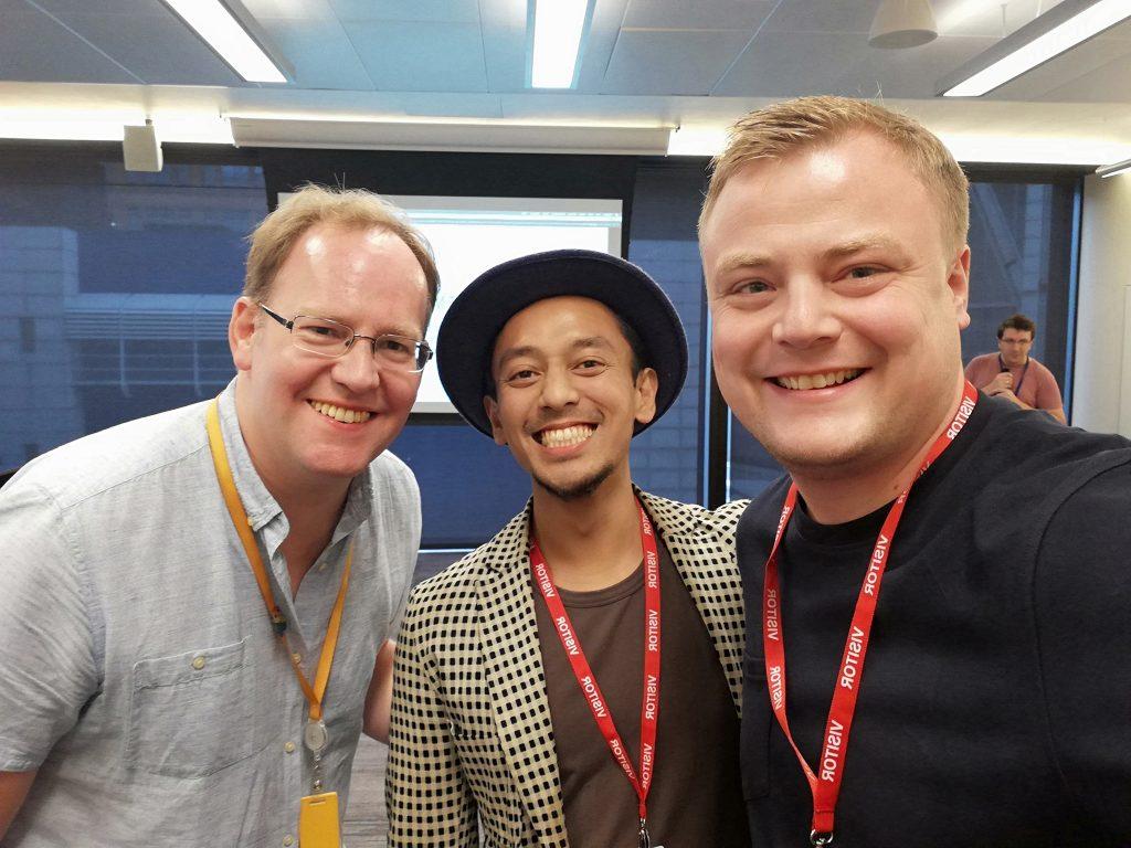 Rob Taylor of 0114 Marketing, Angga Kara of Men Up North and Brian Ballantyne of Amazon