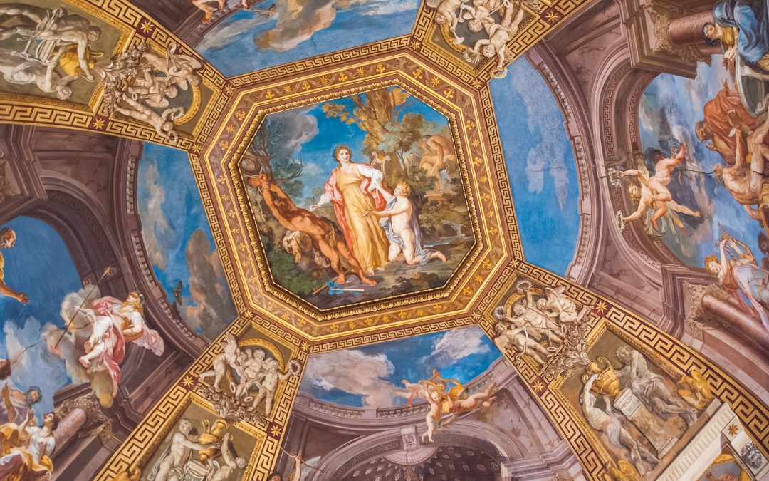 a picture of the sistine chapel to reference persistence and consistency in marketing and business